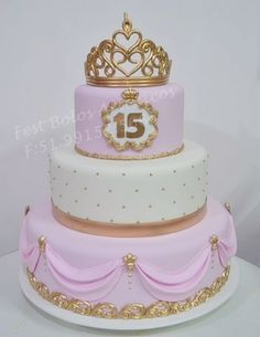 Wow so nice 15th Birthday Cakes, Sweet 16 Birthday Cake, Sweet 16 Cakes, Cute Cakes, Quince Cakes, Quinceanera Cakes, Fake Cake, Girl Cakes, Cake Art