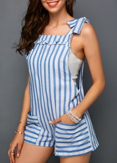Swans Style is the top online fashion store for women. Girl Fashion, Fashion Dresses, Womens Fashion, Emo Fashion, Casual Outfits, Summer Outfits, Stripe Print, Ideias Fashion, Rompers