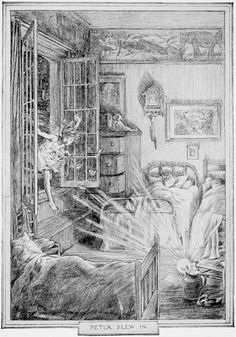 Peter Pan illustration by F.D. Bedford