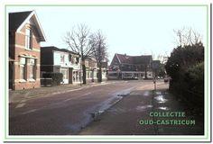 1980: Bebouwing langs de van Oldenbarneveldweg. V.l.n.r. de voormalige onderwijzerswoning (35), gesloten winkeltje (33), Bakkerij Beerse (31), Hotel Borst (25) en op de achtergrond Kuilman (van der Mijleweg 16)
