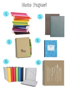 Note paper - back to school