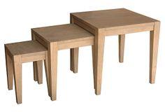 Natural Delmont Nesting Tables, Set of 3 on OneKingsLane.com