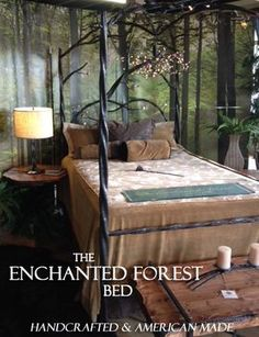 Images of Stone County Ironworks 914-349 Enchanted Forest Canopy Bed King Complete | AppliancesConnection.com