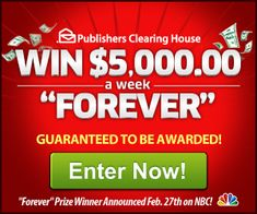 Enter to Win Publishers Clearing House Sweepstakes - Bing images Instant Win Sweepstakes, Win For Life, Lottery Winner, Publisher Clearing House, Winning Numbers, Enter To Win, Tv Commercials, Free Money, Bing Images