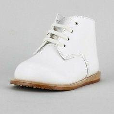 Infants White Walking Shoes