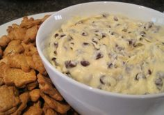Chocolate Chip Cheesecake Dip....yum!