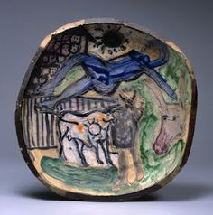 Peter Voulkos, Bullfight, 1957, glazed painted stoneware. Marer Collection, Scripps College