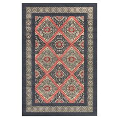 Loomed art silk rug with a Persian-inspired tile motif. Made in Turkey.   Product: RugConstruction Material: Art sil...