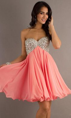 Short Strapless Party Dress by Betsy and Adam Prom Dresses Cheap Sale