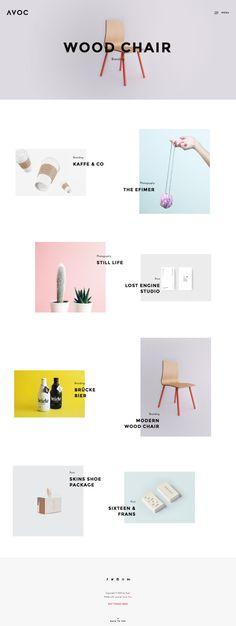 Avoc – Minimal Portfolio / Agency WordPress Theme Best Web Design, Page Design, Ux Design, Book Design, Layout Design, Portfolio Website, Portfolio Web Design, Portfolio Layout, Editorial Design