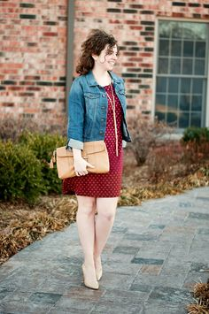 Love this ombre polka dot dress!