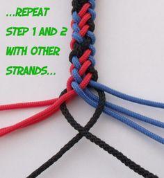 8 Plait Round Knot.... - Creativ'Knots Tutorials
