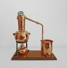 Traditional Copper Still 0.7L with Thermometer and wooden base Noble Copper http://www.amazon.com/dp/B00L4IU8U4/ref=cm_sw_r_pi_dp_.n.jvb1Z52EWW