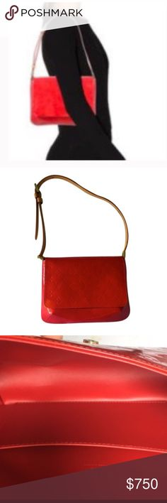 Verni Patent Leather Vachetta Strap Shoulder Bag Verni Patent Leather With Vachetta Leather Strap Shoulder Bag Louis Vuitton Bags Shoulder Bags