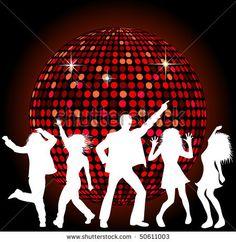 Disco Ball Digital Clip Art Disco Party Retro Clipart Dance ...