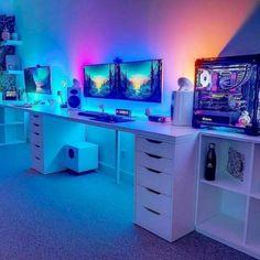 60 Magical DIY Computer Desk Gaming Design Ideas and Decor - artmyideas