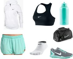 A fashion look from February 2013 featuring NIKE and sport shoes. Browse and shop related looks. Soccer Outfits, Nike Outfits, Sport Outfits, Sport Fashion, Fitness Fashion, Fitness Wear, Athletic Outfits, Athletic Clothes, Athletic Wear