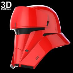 3D Printable Model: Tank Trooper red, Tanker, Driver Helmet from Rogue One: A Star Wars Story | Print File Formats: STL OBJ – Do3D.com