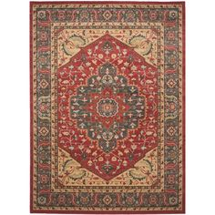 Safavieh Mahal Navy/ Red Rug (8' x 11') | Overstock™ Shopping - Great Deals on Safavieh 7x9 - 10x14 Rugs