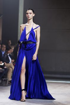 At Haider Ackermann « The Sartorialist blue dress