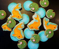 Koi pond cookies...