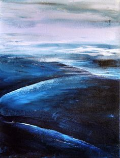 Mountain Painting Original Abstract Painting   by TheAtticTheory, $129.00