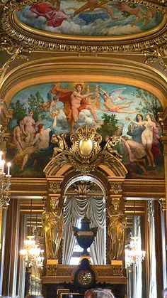 Opéra, Palais Garnier - End wall of the Grand Foyer, Paris