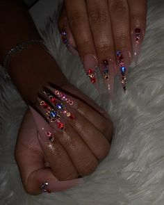 ✔ Nail Short Videos Birthday Many women prefer to attend the hairdresser even if they do not … Bling Acrylic Nails, Drip Nails, Aycrlic Nails, Glam Nails, Best Acrylic Nails, Bling Nails, Cute Nails, Glitter Nails, Coffin Nails