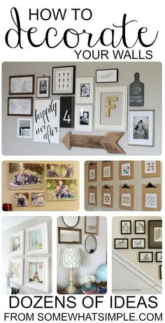 Find and save ideas about living room wall decor on Our Site. See more ideas about Living room wall decor, Living room wall art and Diy living room decor. Home And Deco, My Living Room, How To Decorate Living Room Walls, How To Decorate Wall, Picture Wall Living Room, Picture Walls, Family Wall Decor, Living Room Decor For Walls, Family Photo Walls