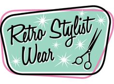 We love our logo! Retro Stylist Wear, San Diego. #petgroomerapparel, #stylistwear, #groomingsmocks, #dogroomerapparel, #petgroomingsmocks, #doggroomingsmocks