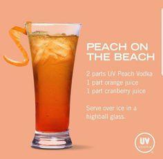 Peach on the beach