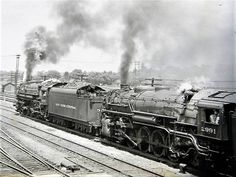 New York Central Railroad, Railroad History, Rail Transport, Steam Railway, Pennsylvania Railroad, Old Trains, Steam Engine, Steam Locomotive, Old Pictures