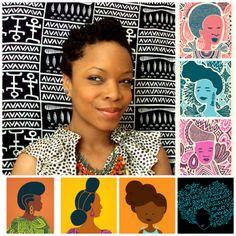 Andrea Pippins: graphic designer, illustrator, asst. professor of art at Stevenson University.