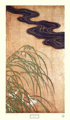 Flowering Plants of Summer - Right panel by Sakai Hoitsu
