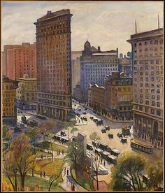 Samuel Halpert (American, 1884–1930). The Flatiron Building, The Metropolitan Museum of Art, New York. Gift of Dr. and Mrs. Wesley Halpert, 1981 (1981.36) #newyork #nyc