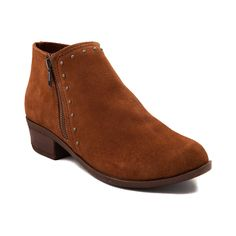 Womens Minnetonka Brie Studded Ankle Boot - Brown - 1371512