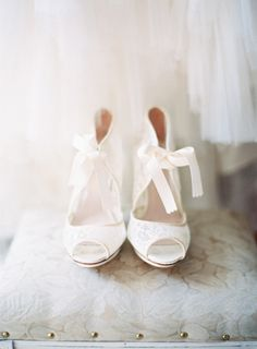 Romantic, lace booties: http://www.stylemepretty.com/2013/02/22/st-louis-wedding-from-clary-photo-2/ | Photography: Clary Photo - http://claryphoto.com/