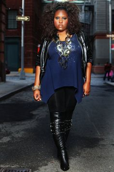 Plus size fashion outfit #UNIQUE_WOMENS_FASHION http://stores.ebay.com/VibeUrbanClothing