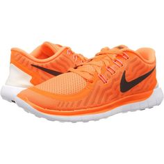 Nike Free 5.0 Women's Running Shoes, Orange (300 SAR) ❤ liked on Polyvore