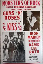 "Monsters of rock concert posters | GUNS 'N' ROSES!! - ""MONSTERS OF ROCK"" 1988 PROMO TOUR POSTER!!"