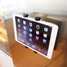 Follow a recipe on your iPad without getting the device messy with this fridge clip.