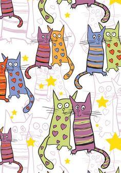Postal para celebrar a amizade e o amor, na forma dos gatinhos da MiCA!