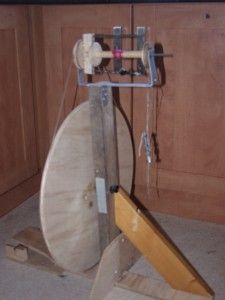 Homemade spinning wheel