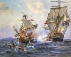 Charles Vickery Limited Edition Print - No Quarter - No Mercy Pirate Ship Painting, Ocean At Night, Bateau Pirate, Old Sailing Ships, Pirate Art, Pirate Ships, Ship Paintings, Military Diorama, Nautical Art