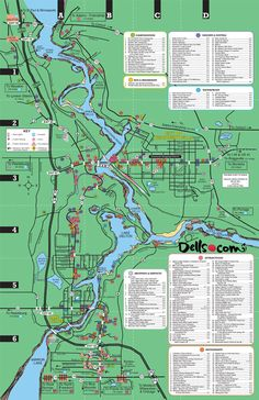 Are you looking to find Attractions, Resorts, Restaurants, Waterparks, Shopping, Campgrounds, and other services? Check out our easy to read Dells map!