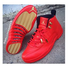 This Jordan 12 custom was made by @Wallychamp15 (Instagram)  #TheSoleLibrary #CustomOfTheWeek