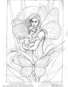 enchanted designs fairy mermaid blog free fairy mermaid coloring pages by jody bergsma - Fairy Coloring Pages For Adults