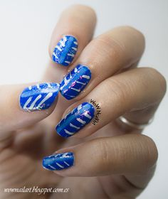 Electric Stripes #nail #nails #nailart