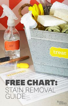Stain Chart: How to Remove Stains from Laundry