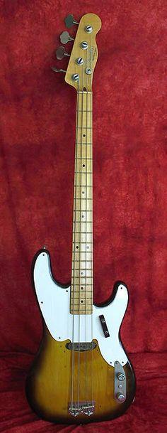 FENDER 1955 Precision Bass, Sunburst, Maple Neck